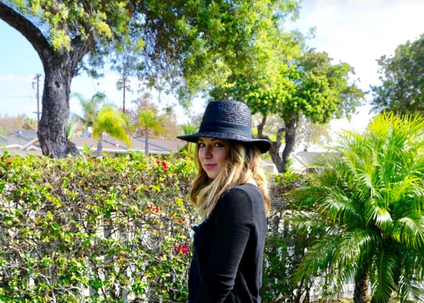 Dress Up Your Mom Jeans: Black BrimHat