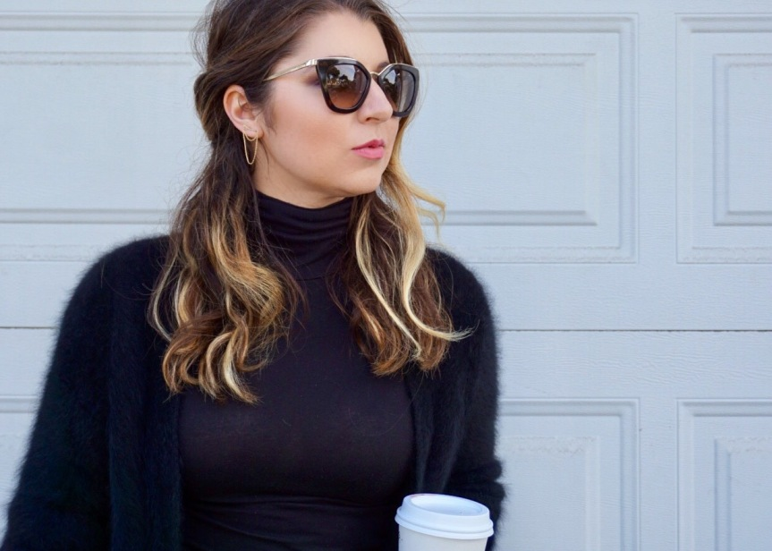Dress Up Your Mom Jeans: Faux Fur Sweater