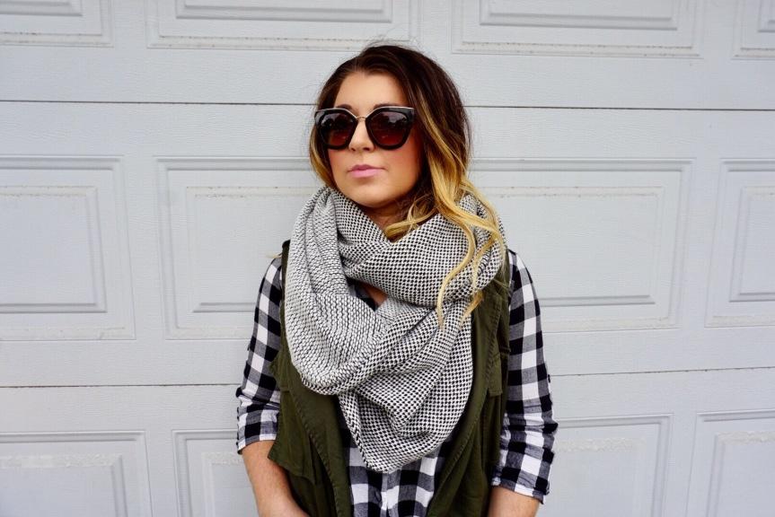Dress Up Your Mom Jeans: Checkered Zara ShirtDress
