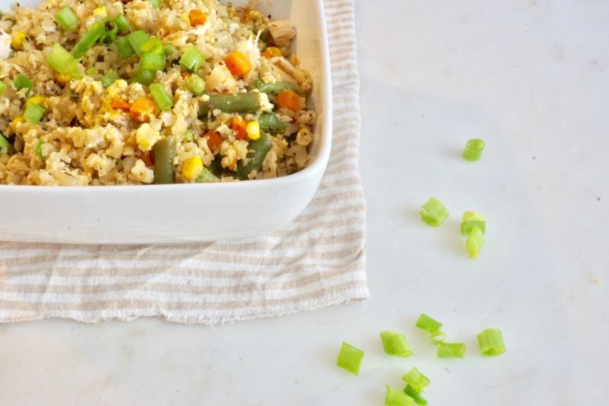 Binkie Bites: Shortcut Cauliflower and Chicken FriedRice