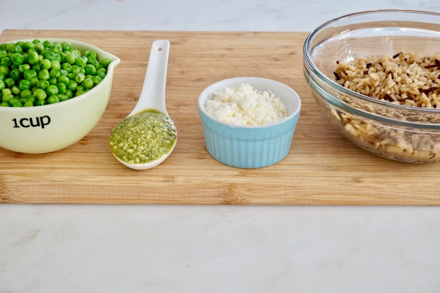 Binkie Bites: 5 Minute Pesto Rice